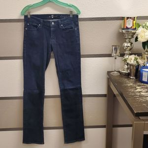 7 For All Mankind Embellished Straight Leg Jeans